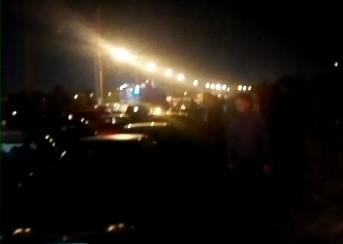 بند آوردن جاده کمربندی شیراز، محله کوشن در اعتراض به رفتار حکومت